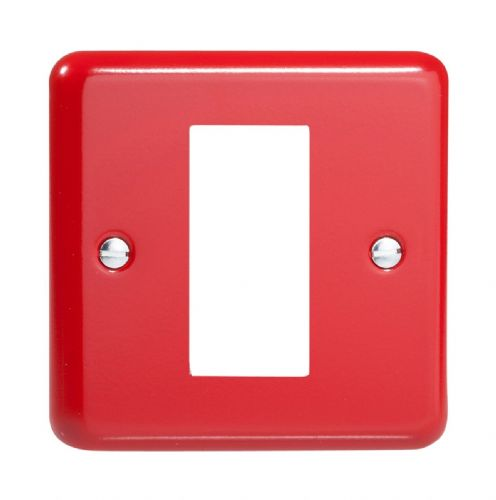 Varilight XYG1.PR Lily Primary Pillar Box Red DataGrid Plate (1 DataGrid Space)
